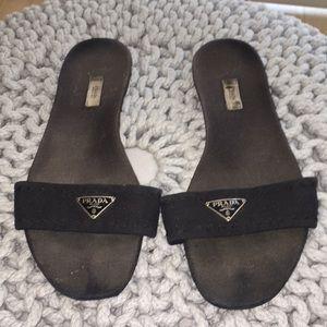 Prada Logo Sandal